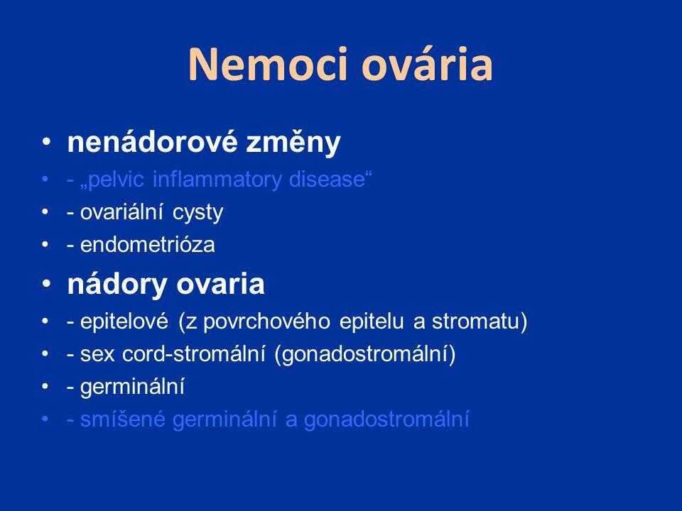 Nemoci ovária nenádorové změny nádory ovaria