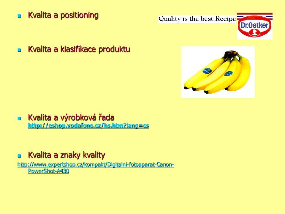 Kvalita a klasifikace produktu