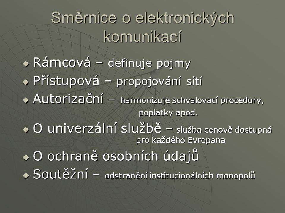 Směrnice o elektronických komunikací