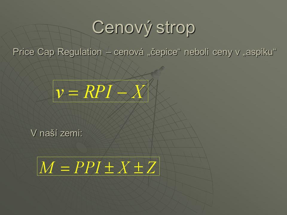 """Price Cap Regulation – cenová """"čepice neboli ceny v """"aspiku"""