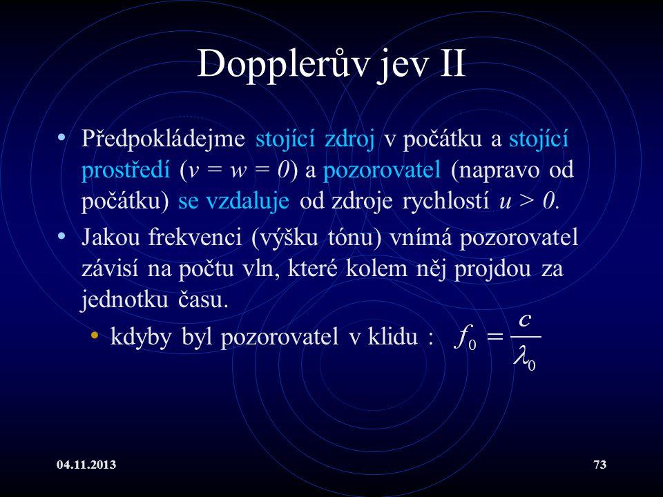 Dopplerův jev II