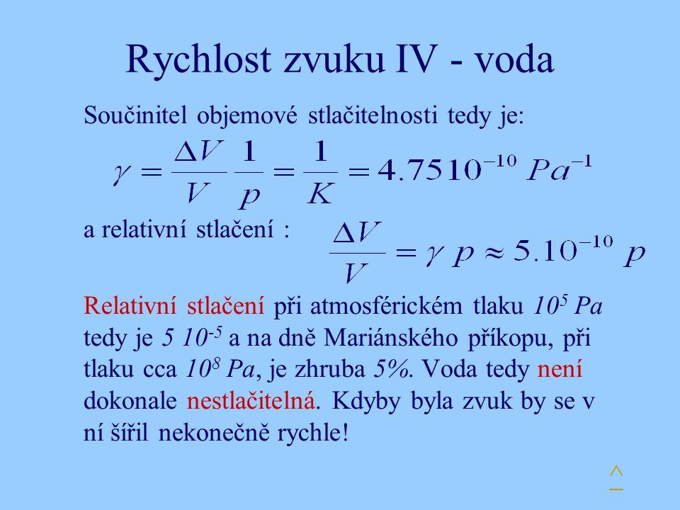 Rychlost zvuku IV - voda