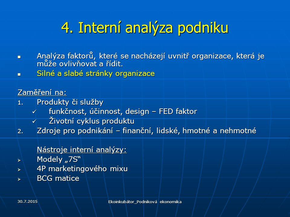 4. Interní analýza podniku