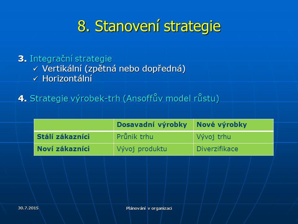 Plánování v organizaci