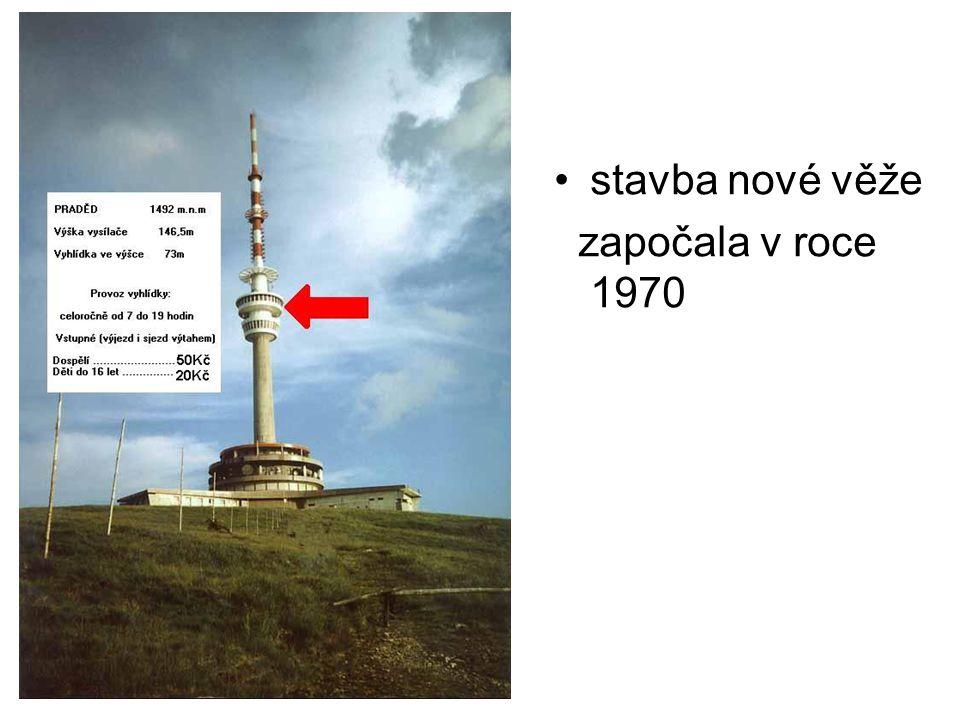stavba nové věže započala v roce 1970