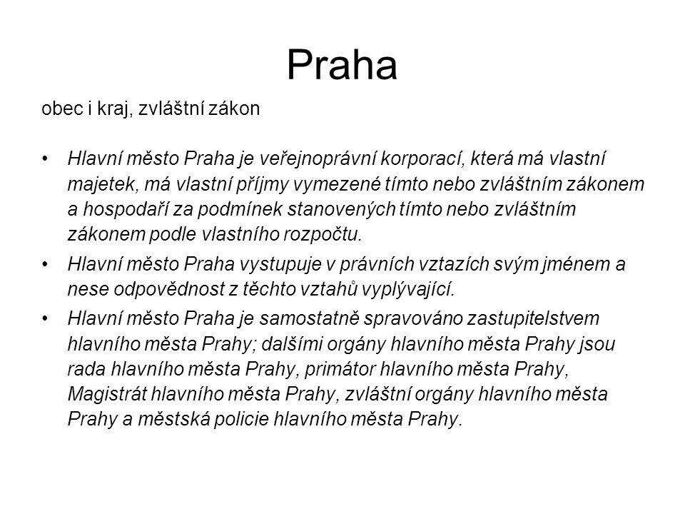 Praha obec i kraj, zvláštní zákon