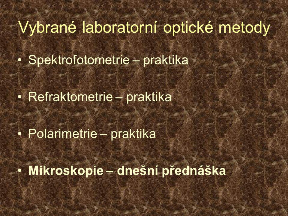 Vybrané laboratorní optické metody
