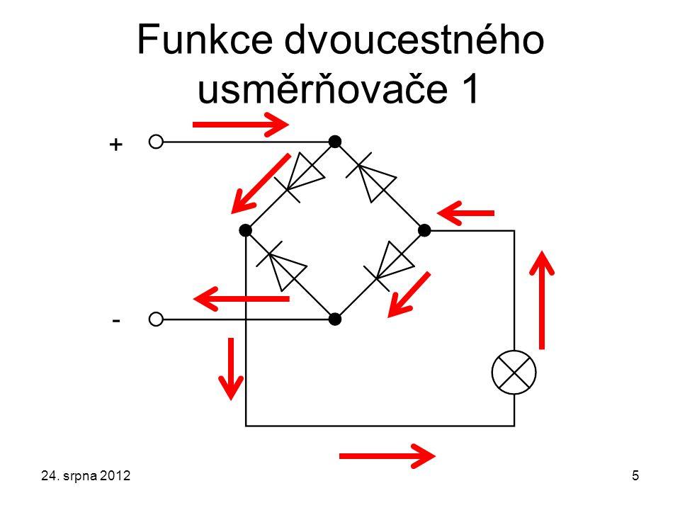 Funkce dvoucestného usměrňovače 1