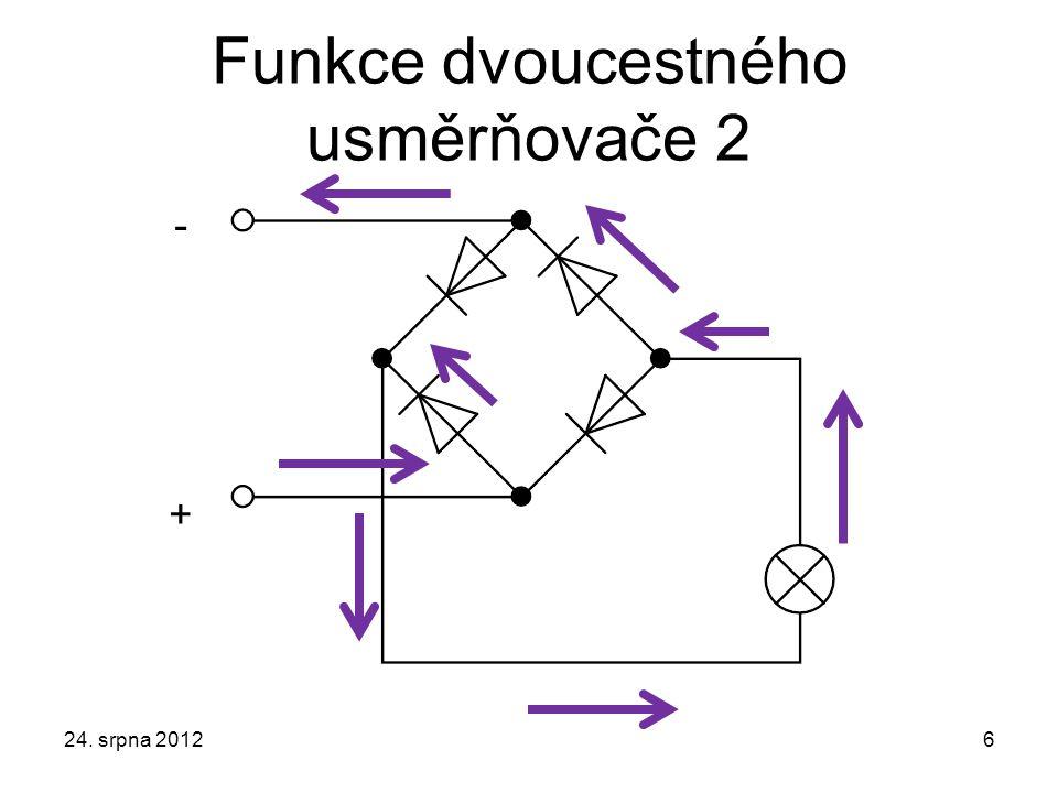 Funkce dvoucestného usměrňovače 2