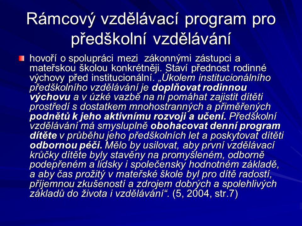 Rámcový vzdělávací program pro předškolní vzdělávání