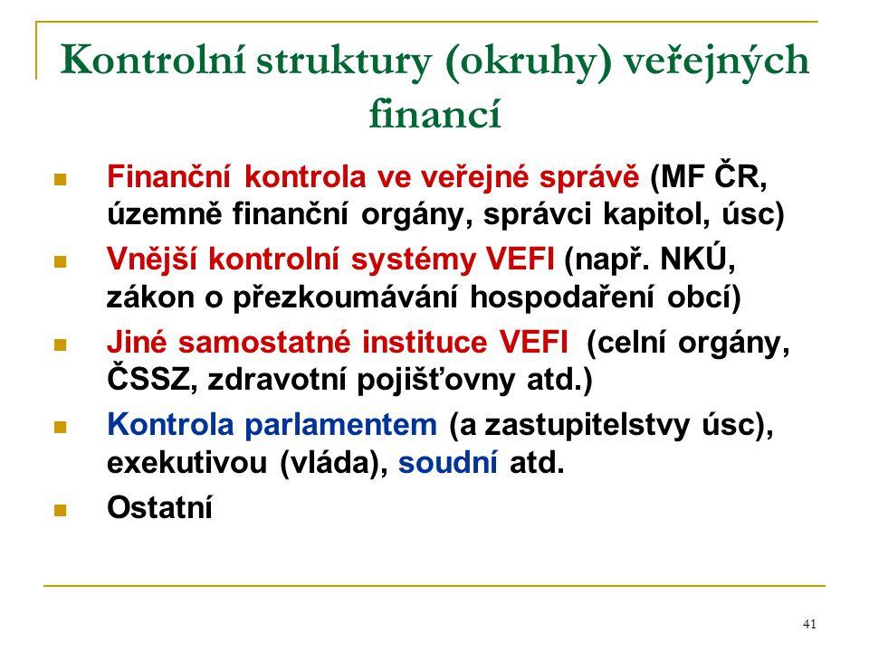 Kontrolní struktury (okruhy) veřejných financí
