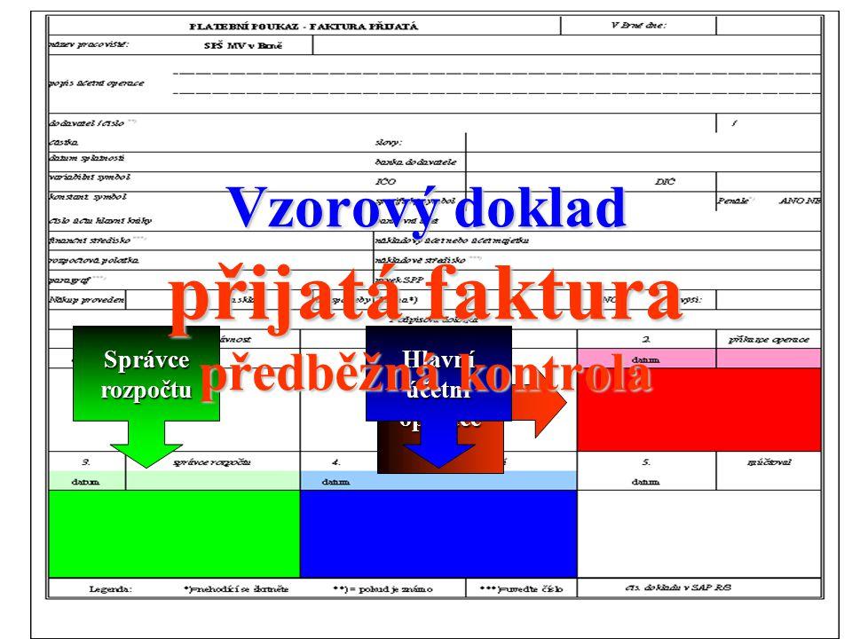 Vzorový doklad přijatá faktura předběžná kontrola