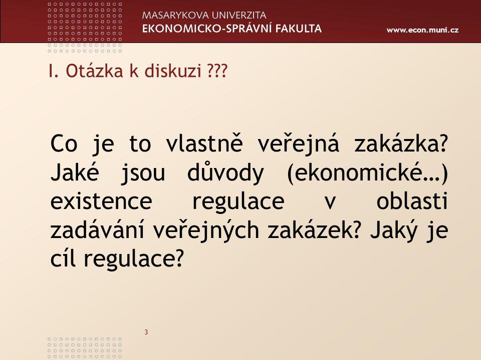 I. Otázka k diskuzi