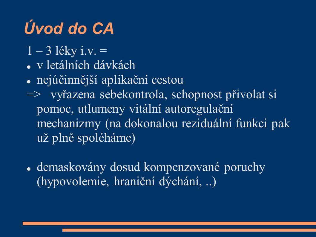 Úvod do CA 1 – 3 léky i.v. = v letálních dávkách