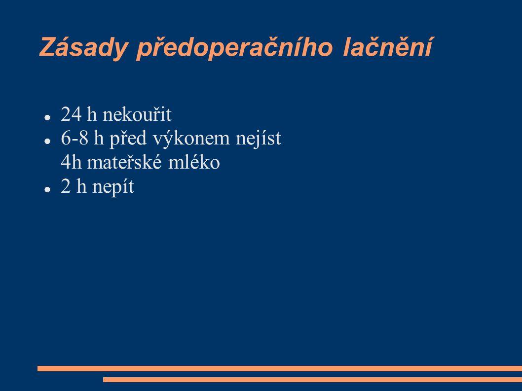Zásady předoperačního lačnění