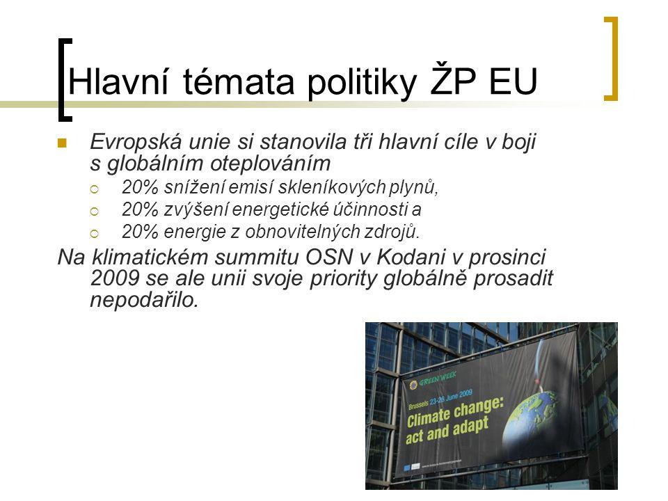 Hlavní témata politiky ŽP EU