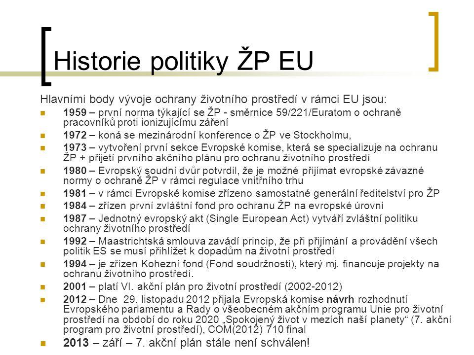 Historie politiky ŽP EU