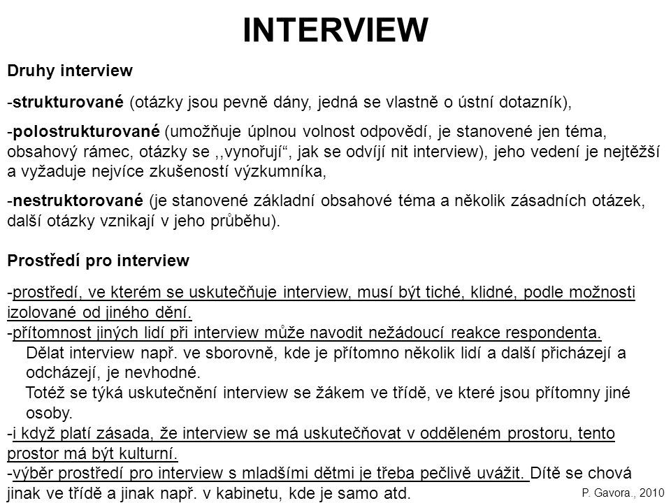 INTERVIEW Druhy interview