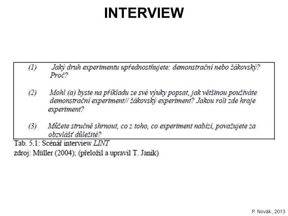 INTERVIEW P. Novák., 2013