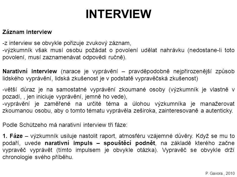 INTERVIEW Záznam interview