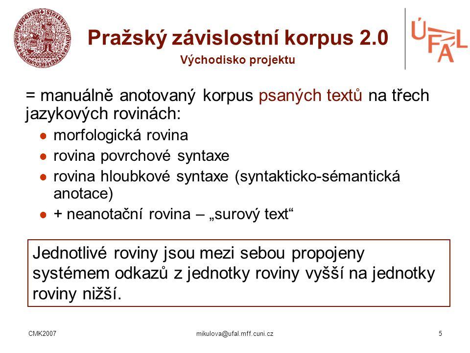 Pražský závislostní korpus 2.0