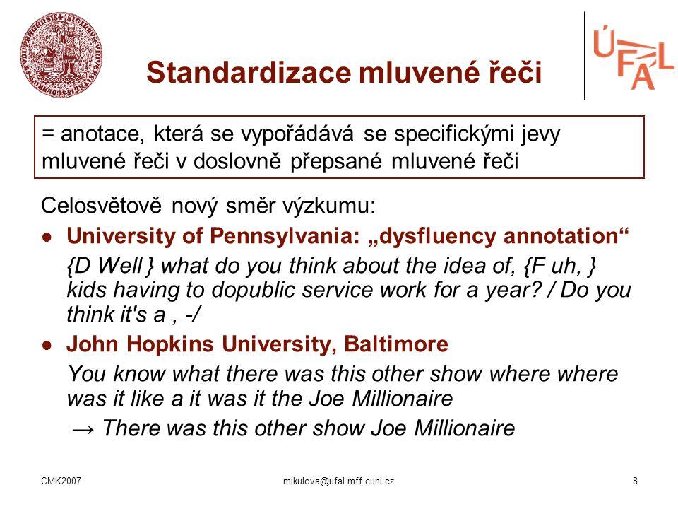 Standardizace mluvené řeči