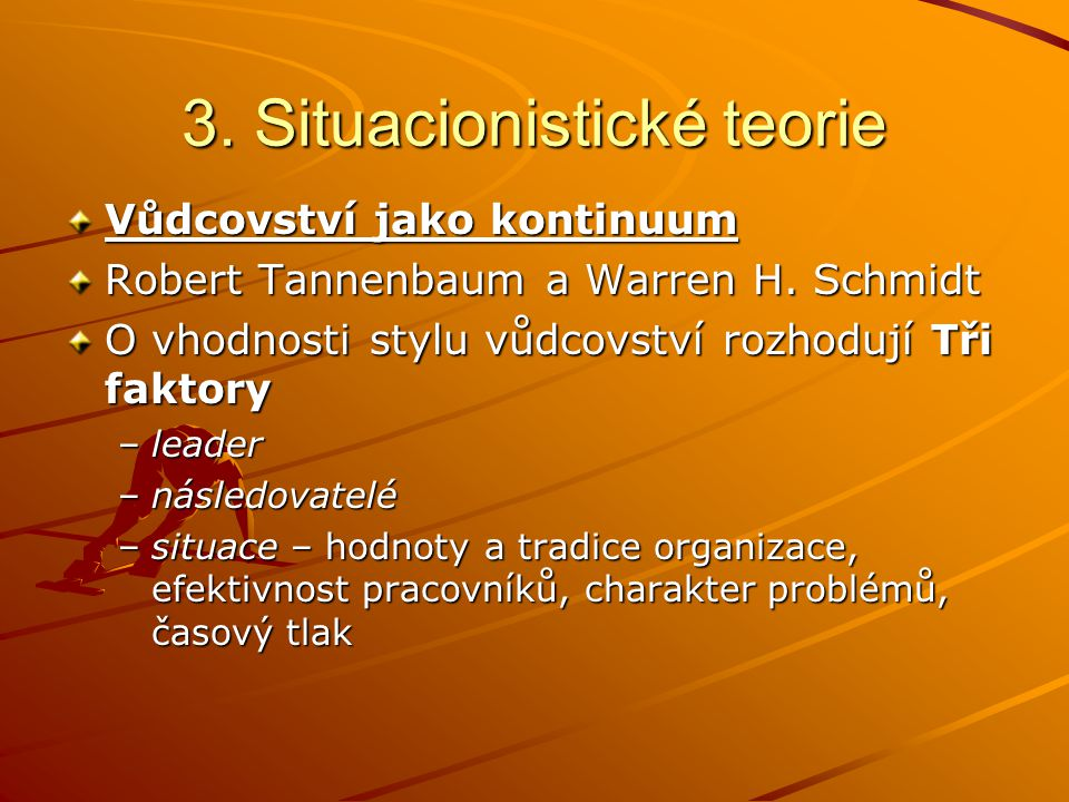 3. Situacionistické teorie