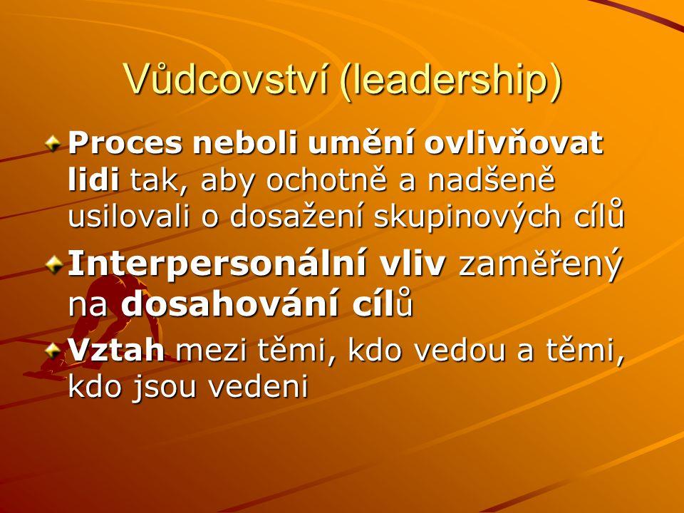 Vůdcovství (leadership)