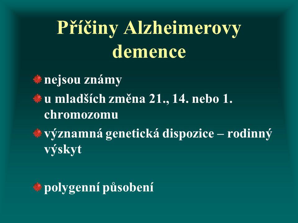 Příčiny Alzheimerovy demence