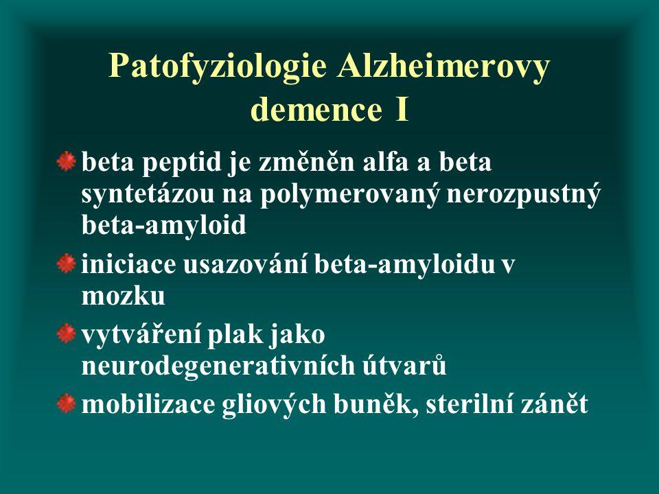 Patofyziologie Alzheimerovy demence I