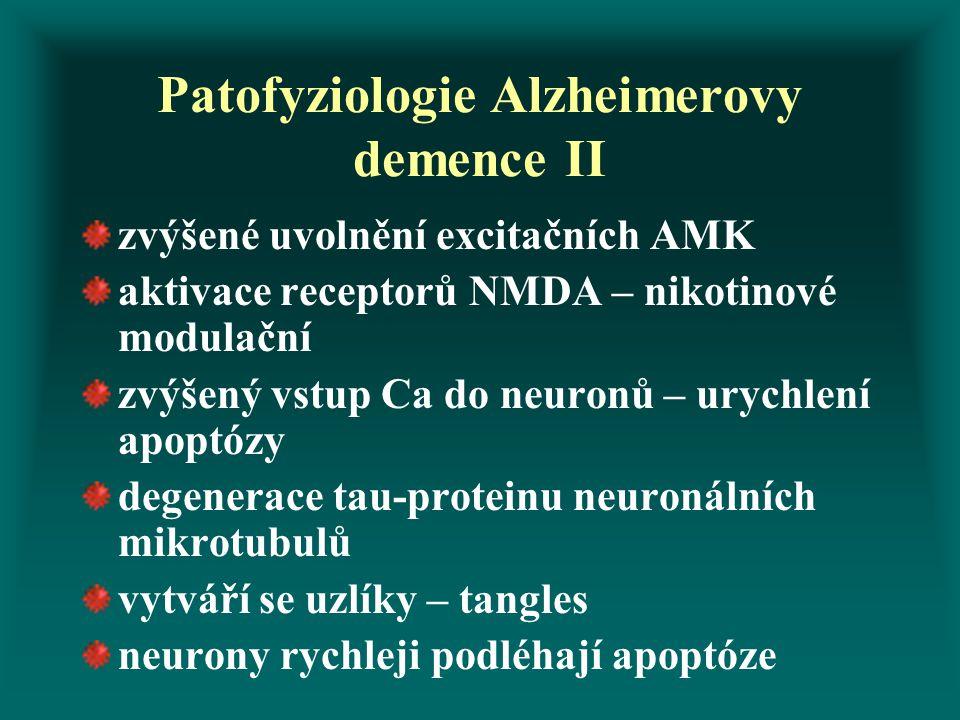 Patofyziologie Alzheimerovy demence II