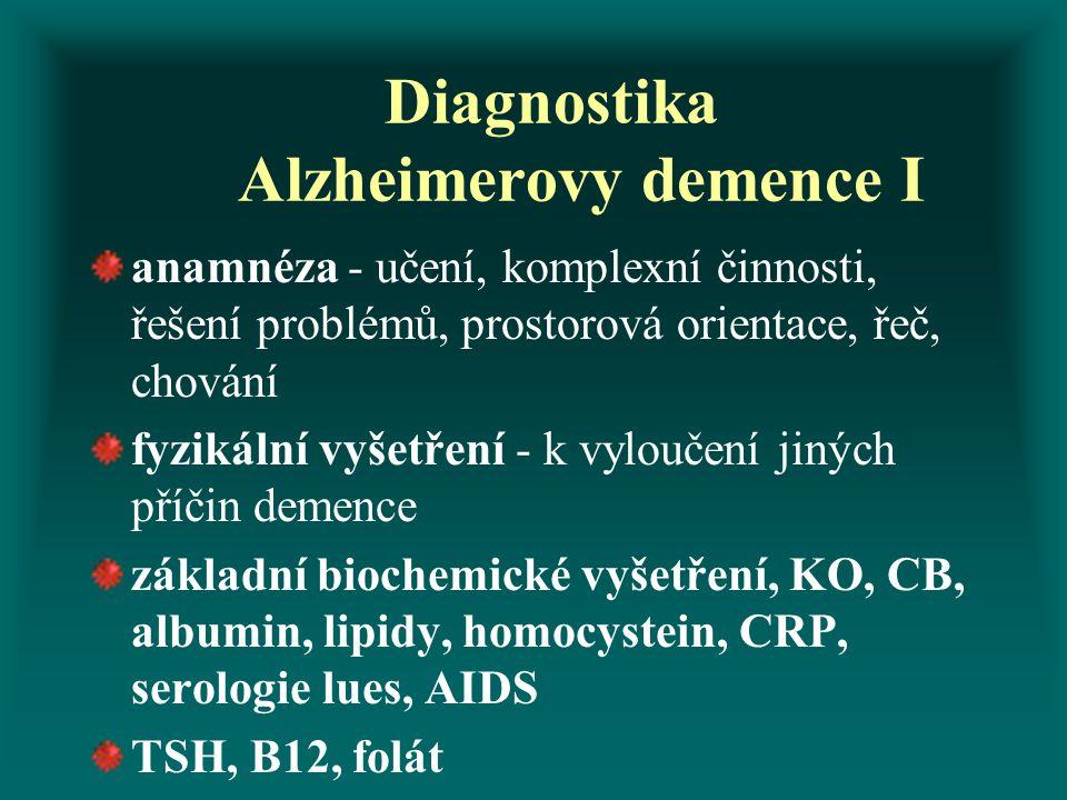 Diagnostika Alzheimerovy demence I