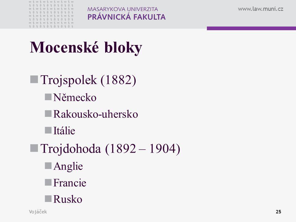 Mocenské bloky Trojspolek (1882) Trojdohoda (1892 – 1904) Německo