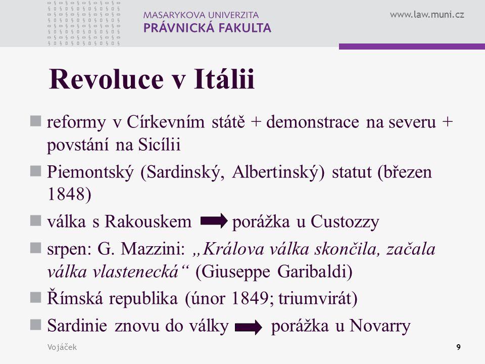 Revoluce v Itálii reformy v Církevním státě + demonstrace na severu + povstání na Sicílii. Piemontský (Sardinský, Albertinský) statut (březen 1848)