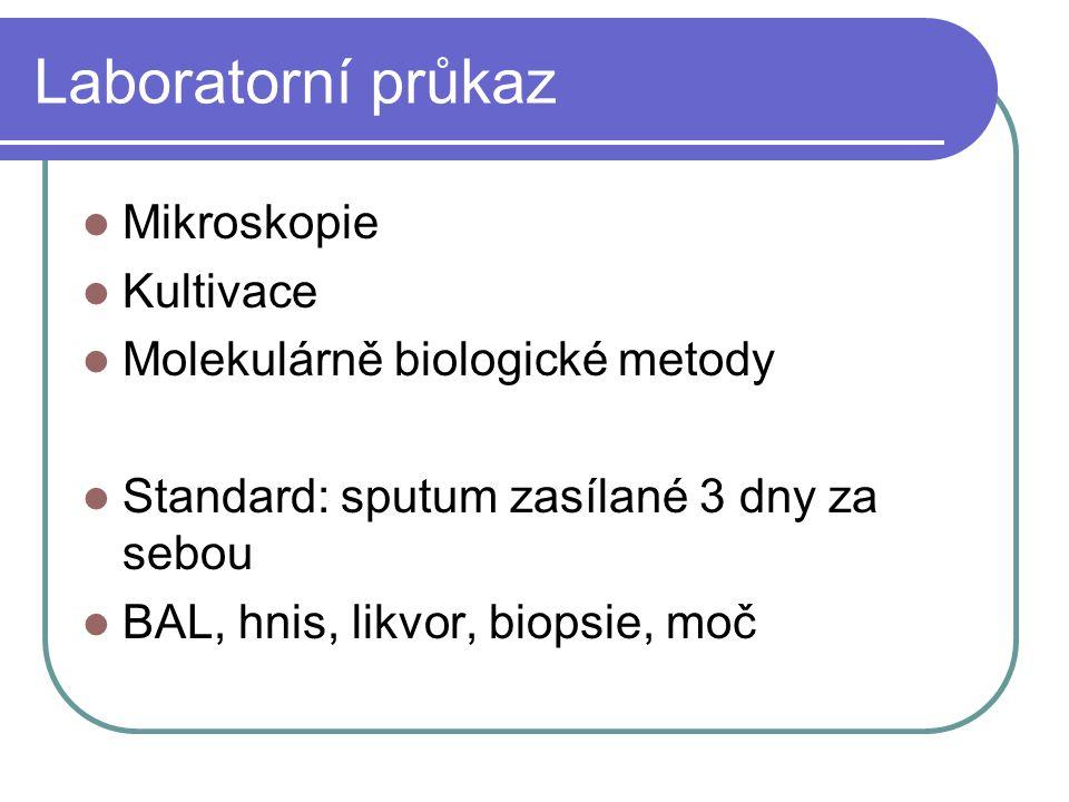 Laboratorní průkaz Mikroskopie Kultivace Molekulárně biologické metody