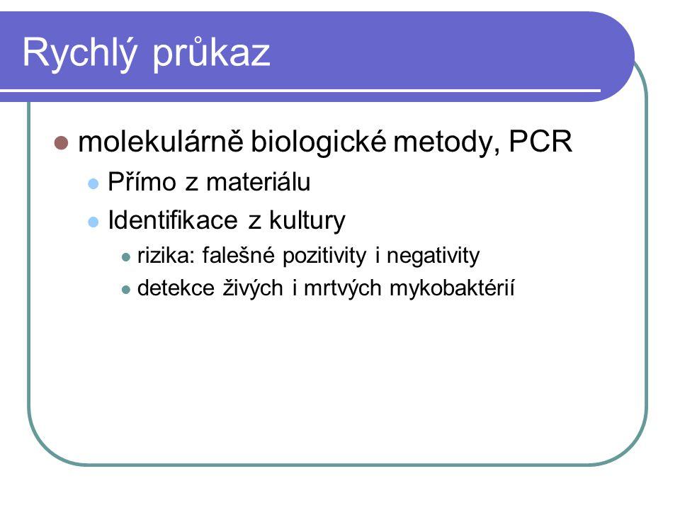 Rychlý průkaz molekulárně biologické metody, PCR Přímo z materiálu