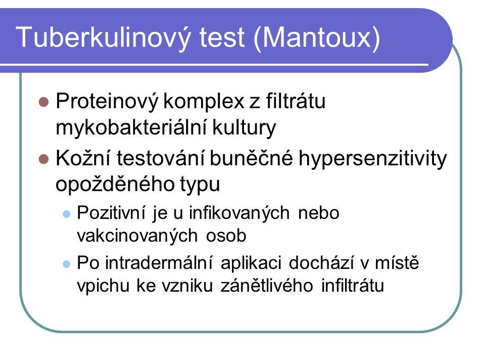 Tuberkulinový test (Mantoux)