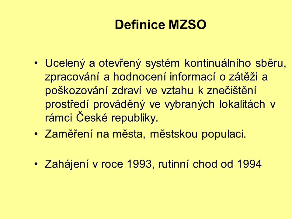 Definice MZSO