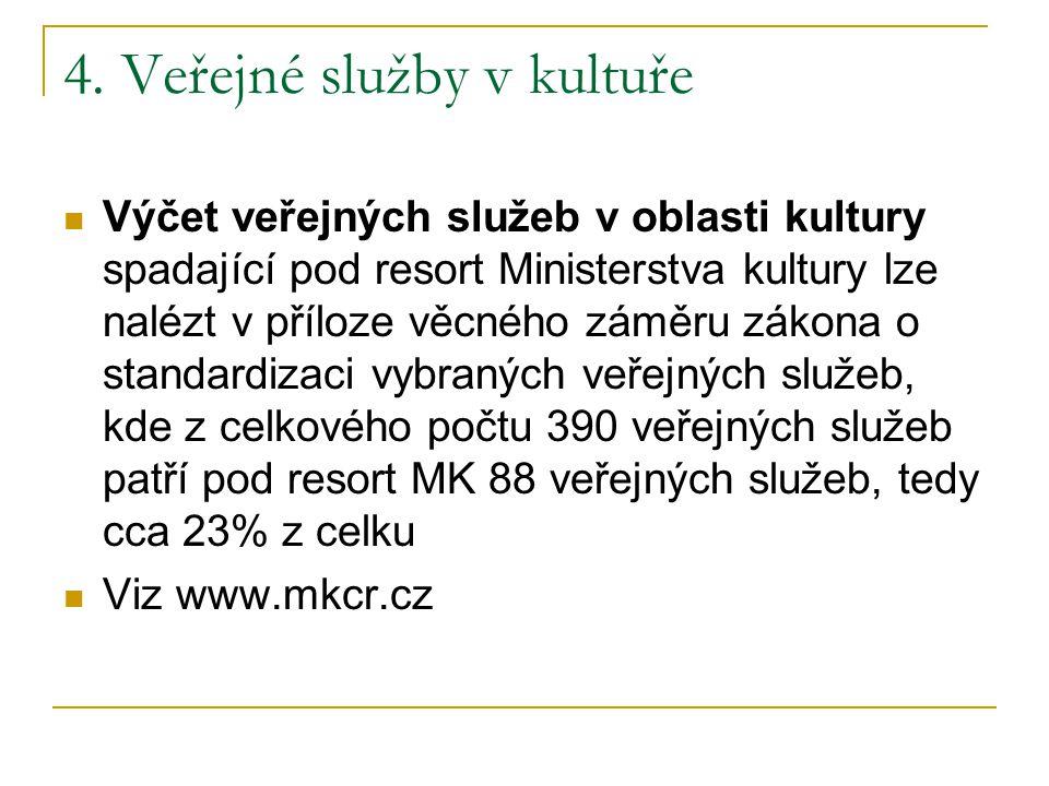 4. Veřejné služby v kultuře