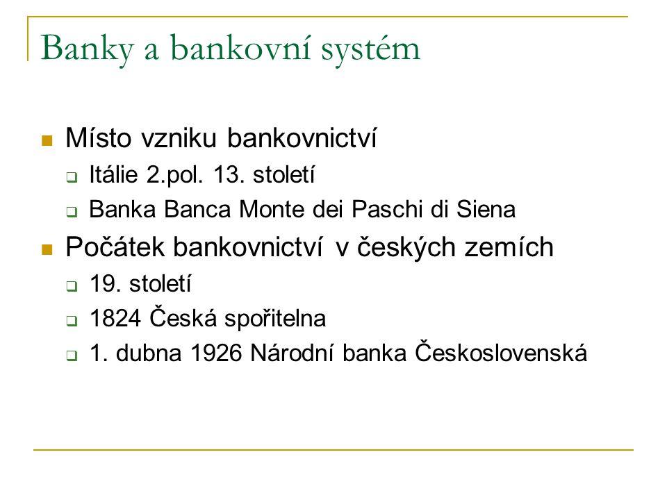 Banky a bankovní systém