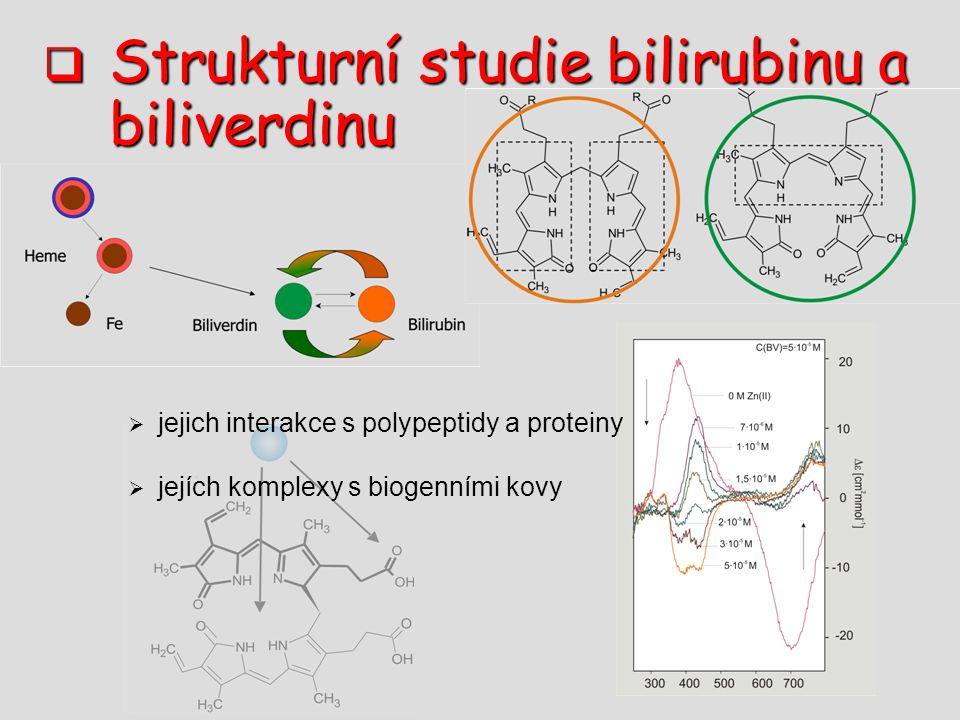 Strukturní studie bilirubinu a biliverdinu