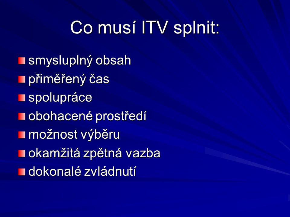 Co musí ITV splnit: smysluplný obsah přiměřený čas spolupráce