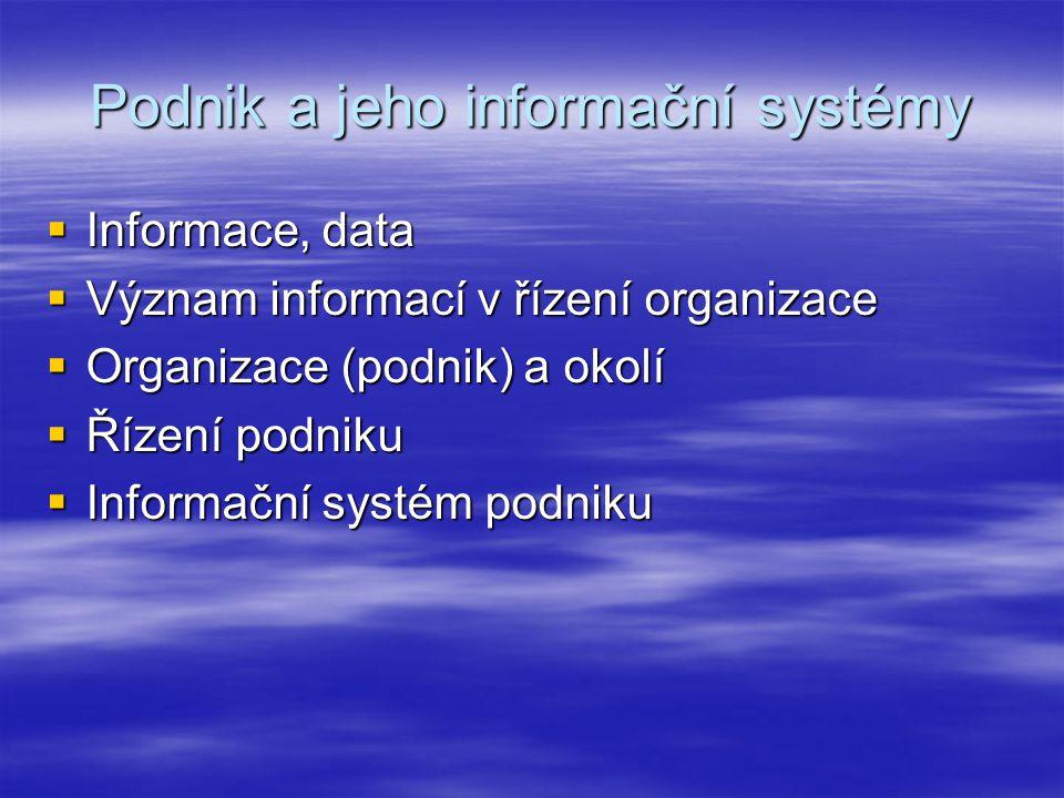 Podnik a jeho informační systémy