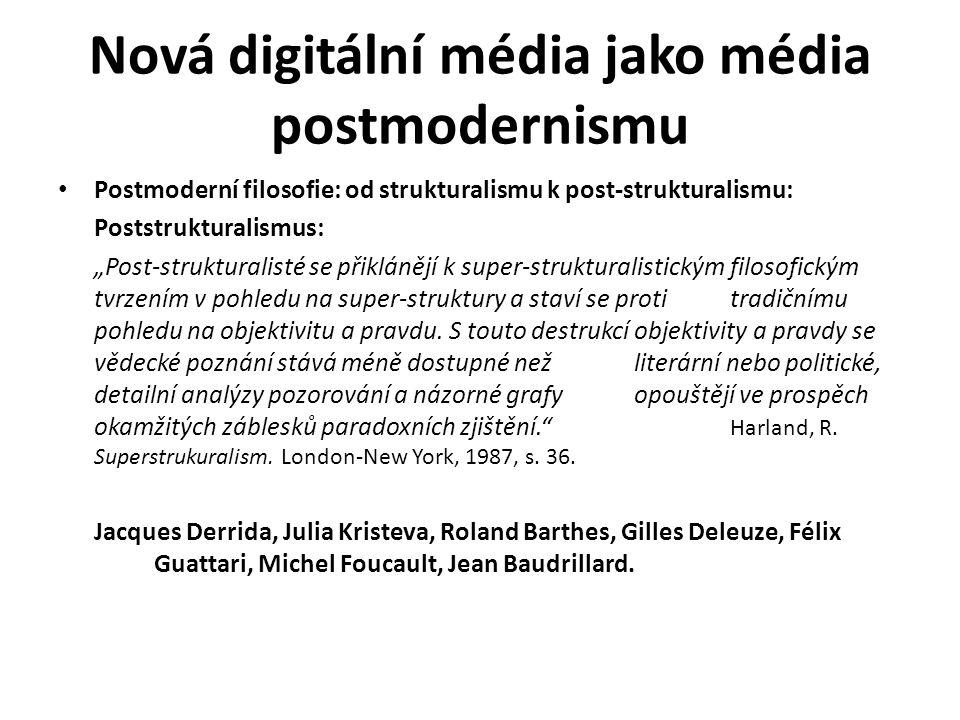 Nová digitální média jako média postmodernismu