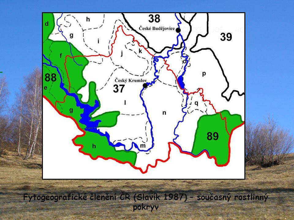 Fytogeografické členění ČR (Slavík 1987) – současný rostlinný pokryv