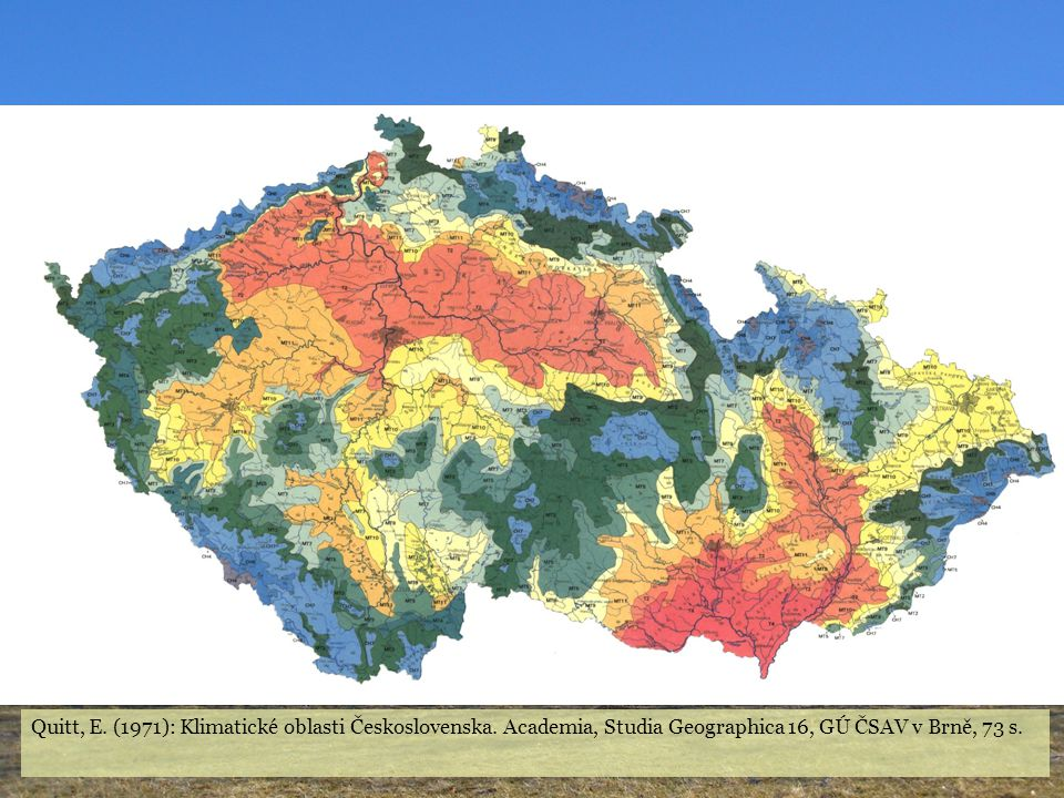 Quitt, E. (1971): Klimatické oblasti Československa