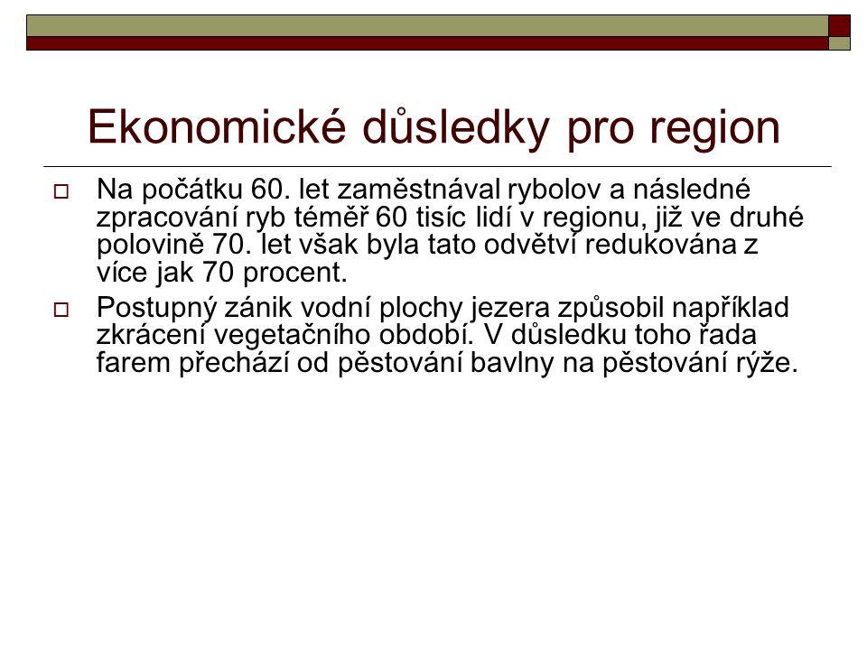 Ekonomické důsledky pro region