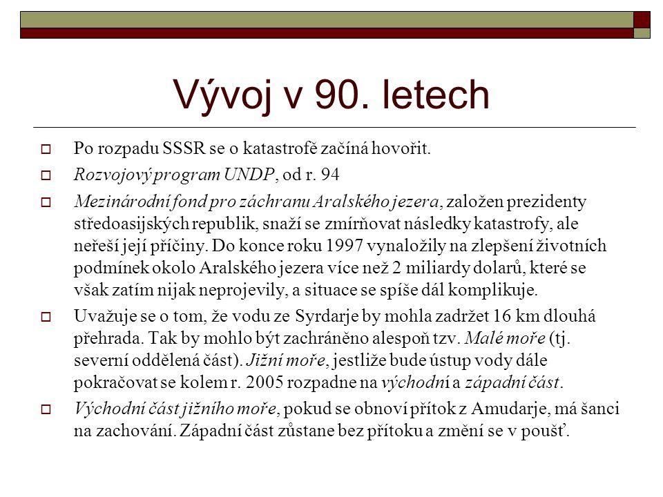 Vývoj v 90. letech Po rozpadu SSSR se o katastrofě začíná hovořit.