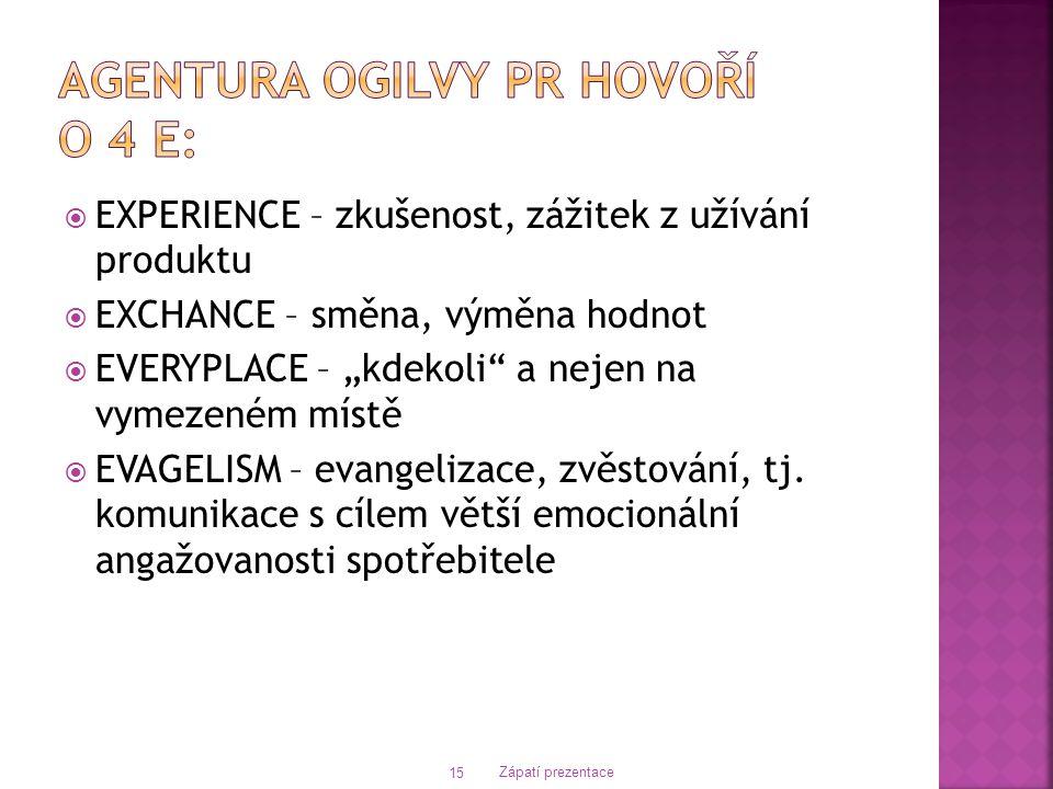 Agentura Ogilvy PR hovoří o 4 E: