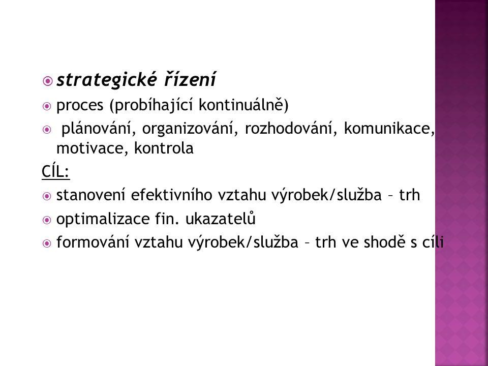 strategické řízení proces (probíhající kontinuálně)